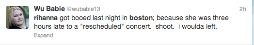 Screen Shot 2013 05 07 at 20.50.14 Rihanna Arrives Three Hours Late To Boston Show / Booed By Fans
