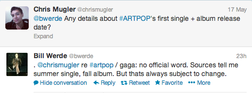 Screen Shot 2013 05 18 at 17.34.33 Report: Lady GaGa Eyes Summer For First ARTPOP Single