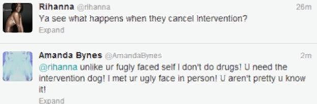 Screen shot 2013 05 26 at 5.05.36 PM Actress Amanda Bynes Slams Rihanna On Twitter:  Chris Brown Beat You Because Youre Not Pretty Enough