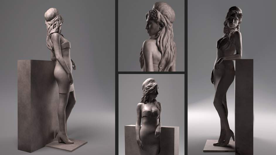 amy winehouse maquette 1 942x530 Amy Winehouse Statue To Be Erected In London
