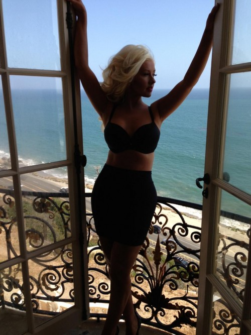 christina aguilera 2013 video e1368665583784 Hot Shot: Christina Aguilera Shoots New Video