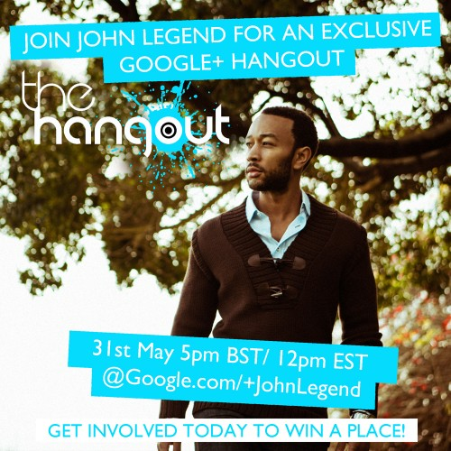 john legend tgj 2013 e1369399175820 Competition: Win Tickets To John Legends Exclusive Google Hangout In London!