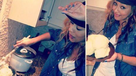 Hot Shot: Keri Hilson Cooks Up African Fufu