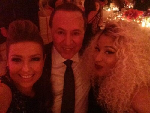 nicki minaj tommy mottola e1367896710319 Inside The Met Gala: Nicki Minaj Poses With Mariahs Ex Husband / Madonna Meets Beyonce & Frank Ocean