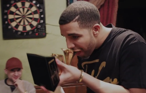 drake grammy Golden Toast: Drake Drinks Shots...From His Grammy Award
