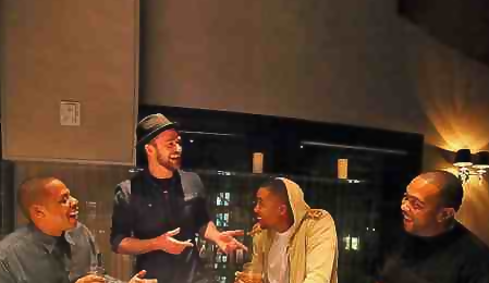 Hot Shot: Jay Z & Nas Join Justin Timberlake & Timbaland For Studio Session