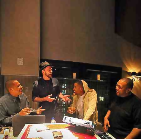 jay z justin timberlake nas timbaland that grape juice Hot Shot: Jay Z & Nas Join Justin Timberlake & Timbaland For Studio Session