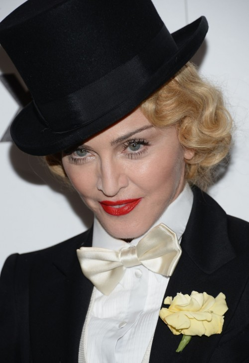 madonna mdna screening 4 e1371641861248 Hot Shots: Madonna Suits Up At MDNA Tour Screening