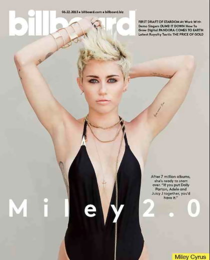 miley cyrus that grape juice2 Hot Shot: Miley Cyrus Covers Billboard For Miley 2.0 Spread