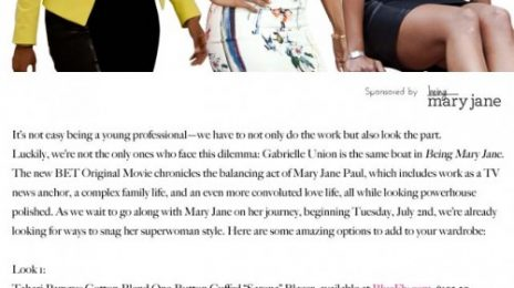 Sponsored: 'Being Mary Jane' Airs Tonight! Learn Secret Style Tips Ahead Of Premiere!