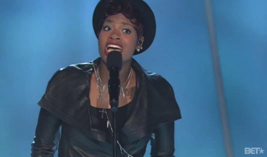 Screen shot 2013 07 21 at 7.54.07 PM Watch:  Fantasia Tributes Whitney Houston With Fiery Sunday Best Performance
