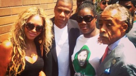 Beyonce Joins The Trayvon Martin Foundation / Meets Victim's Mother Alongside Al Sharpton