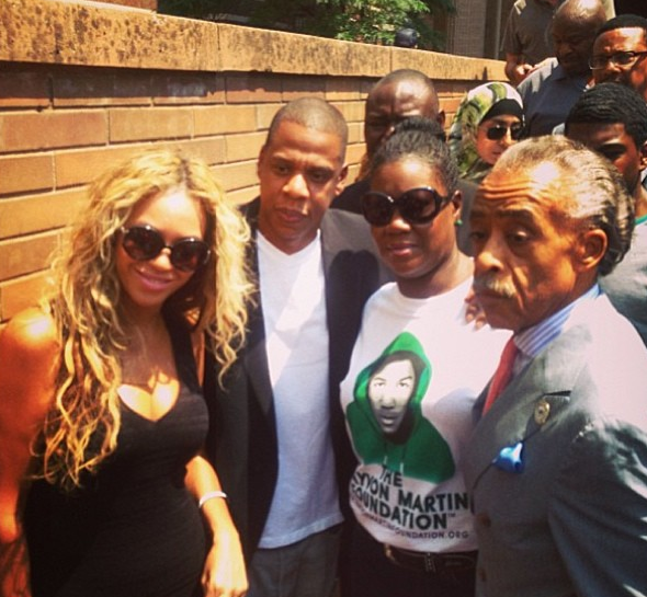 beyonce jay z al sharpton trayvon martin that grape juice Beyonce Joins The Trayvon Martin Foundation / Meets Victims Mother Alongside Al Sharpton