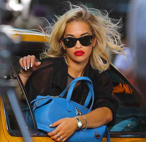rita ora that grape juice2 Watch: Rita Ora Shoots For DKNY In NYC