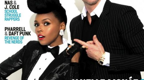 Hot Shots:  Janelle Monae & Robin Thicke Cover Vibe's '20th Anniversary' Issue