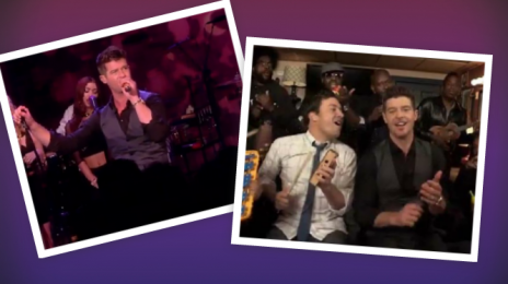 Watch:  Robin Thicke Brings 'Blurred Lines' To 'The View' & 'Fallon'