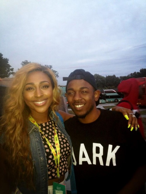 Hot Shots: Alexandra Burke Cosies Up With Kendrick Lamar At V Festival