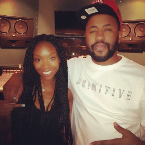 brandy mike will e1376499737937 Hot Shot: Brandy Begins Work On New Album