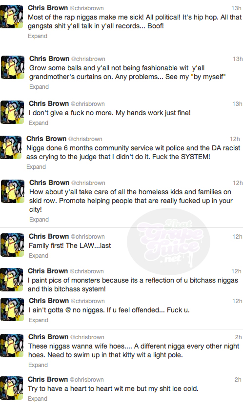 chris brown tweets Chris Brown Courts Controversy With Fresh Twitter Outburst