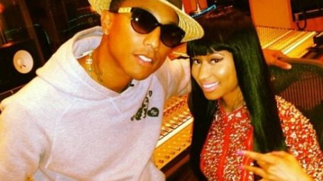 Hot Shot: Nicki Minaj Hits Studio With Pharrell Williams For New Album