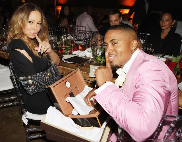 1379092326 mariah carey nas lg Hot Shots:  Nas & Jennifer Hudsons Star Studded Birthday Bashes