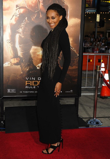 Keri Hilson at Riddick  Rule The Dark premiere 14 That Grape Juice Interviews Keri Hilson