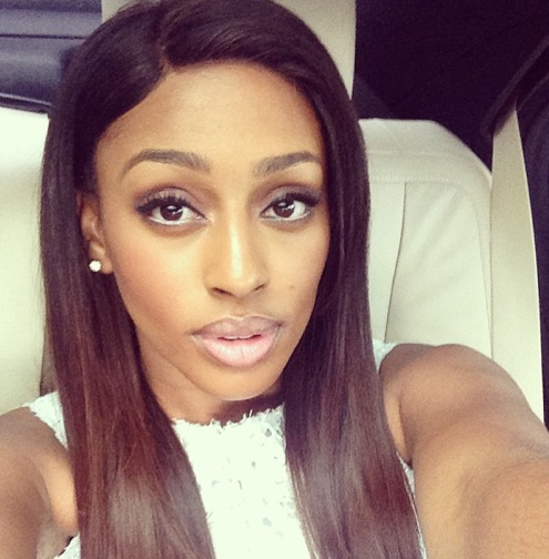 alexndra burke hair 2013 Back to Black: Alexandra Burke Debuts New Hair Do