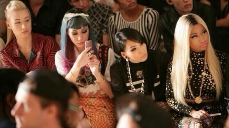 Hot Shot: Iggy Azalea & 2NE1 Meet Nicki Minaj At 'Jeremy Scott' Show