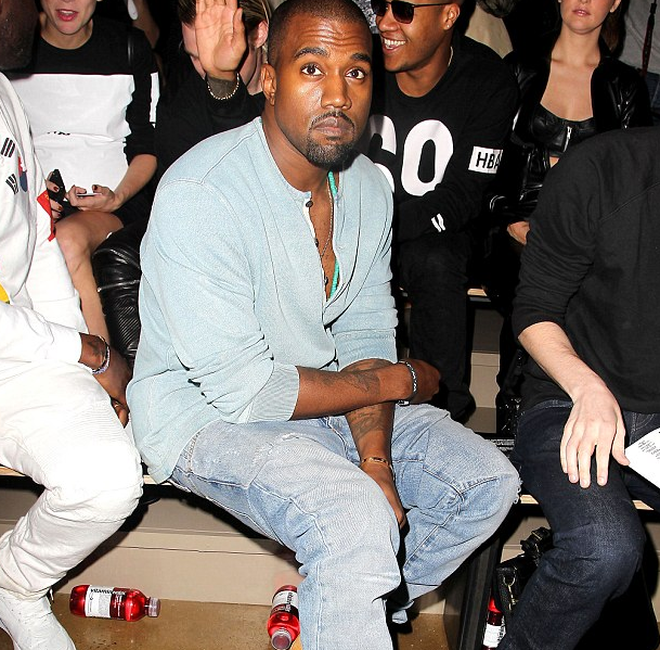 kanye west that grape juice Hot Shots: Kanye West Hits New York Fashion Week With Willy Cartier