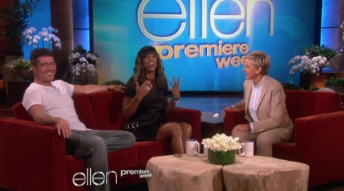 kelly rowland ellen 2013 e1378844594665 Watch: Kelly Rowland & Simon Cowell Talk The X Factor On Ellen