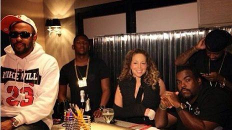 Hot Shot: Mariah Carey Hits Studio With Jermaine Dupri, Darkchild, Hit-Boy & Mike Will