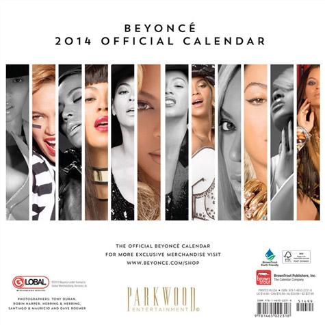 Beyonce Calendar 2014 uk Beyonce-2014-calendar-5