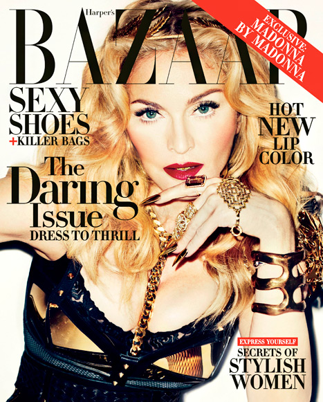 madonna harpers bazaar cover that grape juicejpg Madonna Bares All For Harpers Bazaar / Details Traumatic Rape