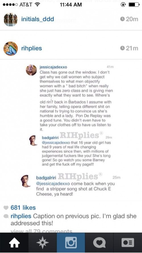 rihanna fan attack 2013 e1380797514598 Rihanna Slams Own Fan On Instagram