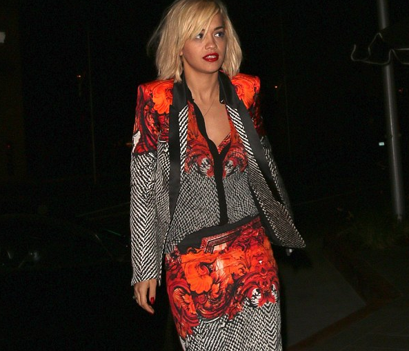 rita ora beverly hills that grape juice Watch: Rita Ora & Calvin Harris Dine At Hakkasan