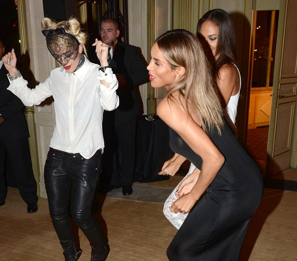 rita ora ciara that grape juice Hot Shots: Ciara & Rita Ora Pour It Up At Mademoiselle C Premiere