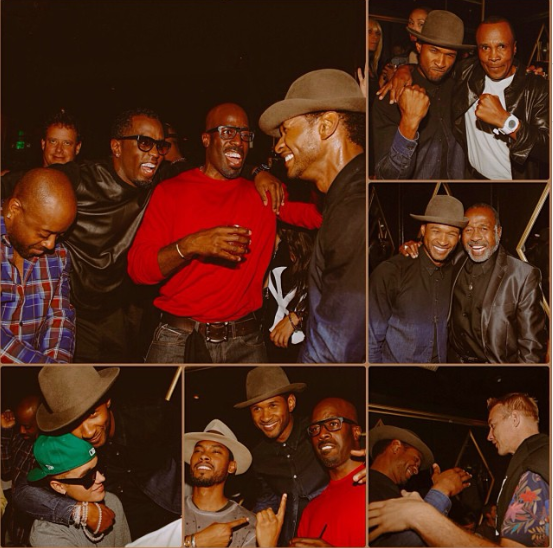 usher 35th birthday that grape juice Hot Shots: Usher Celebrates 35th Birthday With A List Pals