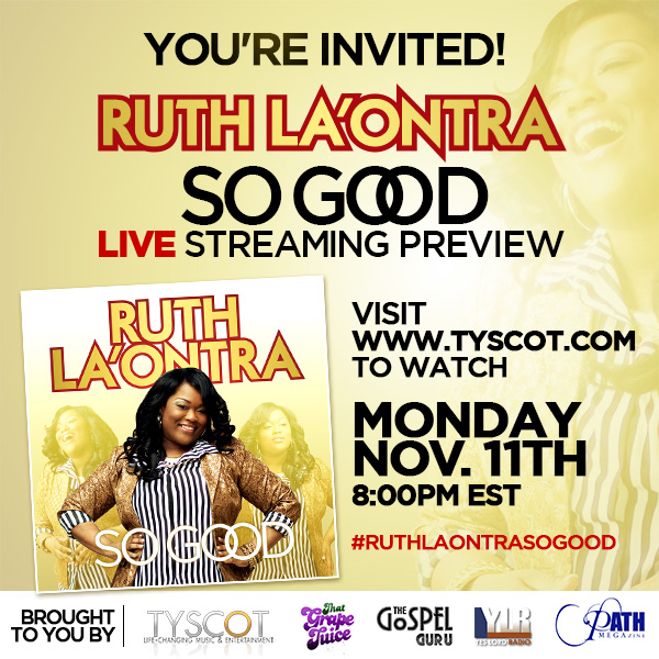 RuthLaOntra EBlast StreamingEvent2 The Overflow (Gospel News Round Up):  Mary Mary, Joshua Rogers, James Fortune & FIYA, Lecrae, Hezekiah Walker & More