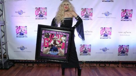 Hot Shot: Lady GaGa Receives First 'ARTPOP' Platinum Plaque