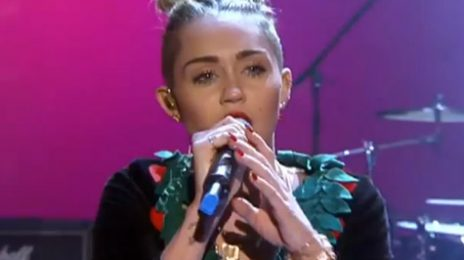 Watch:  Miley Cyrus Brings 'Wrecking Ball' To 'Wetten Dass...?'