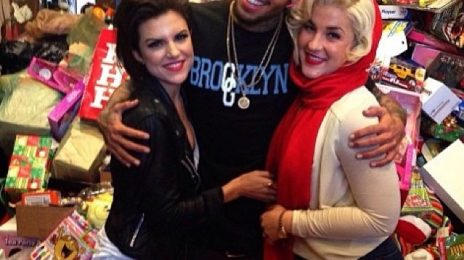 Must See: Chris Brown Supports Underprivileged Children In Los Angeles