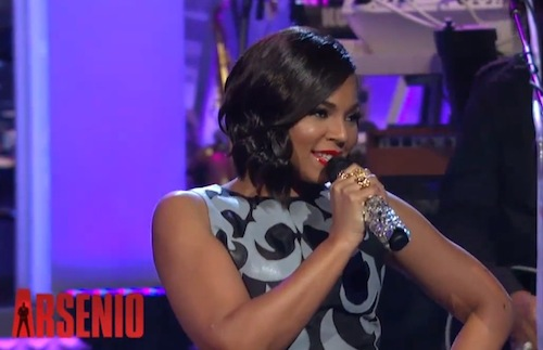 ashanti arsenio hall thatgrapejuice Watch: Ashanti Performs Let It Snow On Arsenio / Talks New Music & Nelly