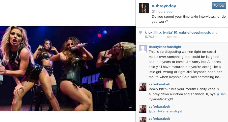 aubrey oday instagram dwoods that grape juice D.Woods Threatens Legal Action Against Danity Kane: My Attorney Will Be Coming