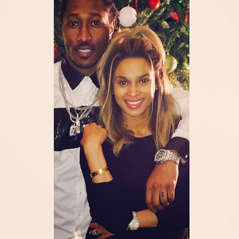 future ciara that grape juice christmas 2013 Hot Shot: Ciara & Future Share Festive Fun With Fans