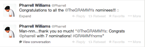 pharrelltweets Stars React To Grammy Nods / India Arie, Ciara & K. Michelle Address Respective Snubs