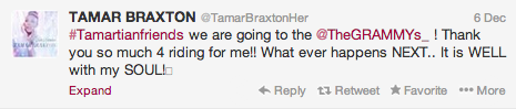 tamarbraxton Stars React To Grammy Nods / India Arie, Ciara & K. Michelle Address Respective Snubs