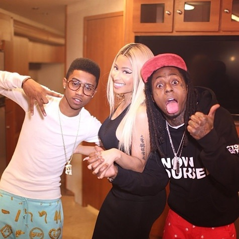 20140128 124525 Hot Shots:  Nicki Minaj & Iggy Azalea Shine On Set Of New YG Music Video