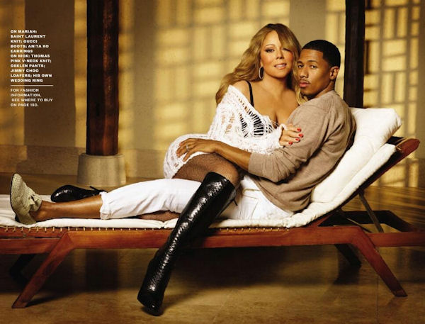 Nick Cannon and Mariah Carey Ebony Magazine February 2014 Black Love Issue 2.that grape juice Hot Shots: Mariah Carey Ignites Ebony Magazine With Scorching New Spread