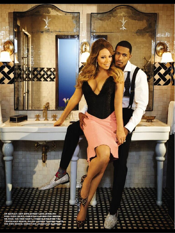 Nick Cannon and Mariah Carey Ebony Magazine February 2014 Black Love Issue 3 that grape juice Hot Shots: Mariah Carey Ignites Ebony Magazine With Scorching New Spread