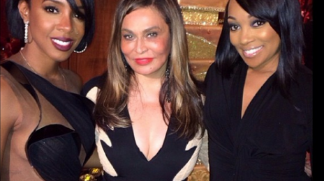 Hot Shots:  Monica & Kelly Rowland Pose With...Tina Knowles